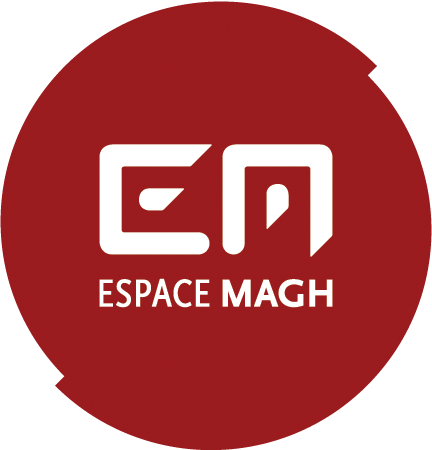 Logo Espace Magh - Red version