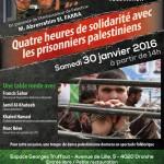 Quatre heures de solidarité avec les prisonniers palestiniens