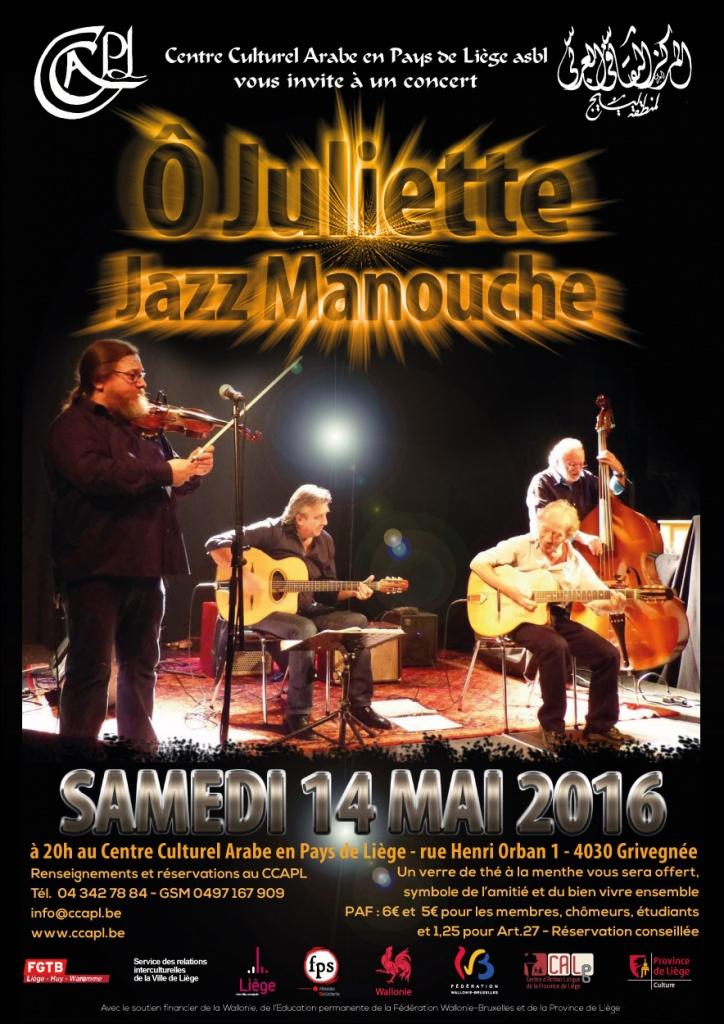 O juliette en concert à Liège