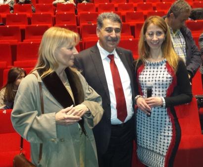 Véronique De Keyzer et le maire de Ramallah Musa Hadeed