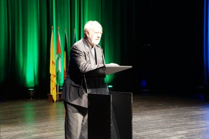 Pierre Galand à la soirée d'inauguration Quinzaine Palestinienne